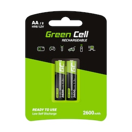GC® 2x AA rechargeable Ni-MH batteries 2600mAh HR6 Green Cell
