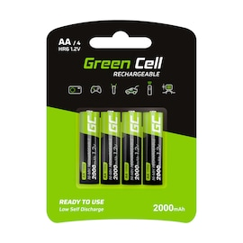 GC® 4x AA rechargeable Ni-MH batteries HR6 2000 mAh Green Cell