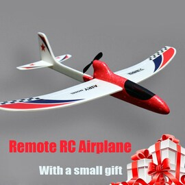 Glider Foam RC Drone Capacitor Hand Throwing Electric Plane Resistance to falling Toys Orange