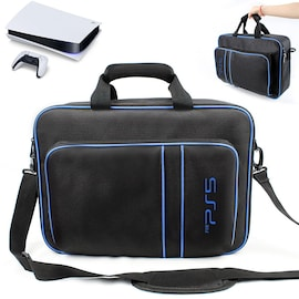 Handbag For Play Station 5 Console with Shoulder Strap Canvas Case Black