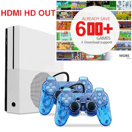 HD TV Game Consoles Built-in 600 Retro Classic Games with 2 USB Joystick