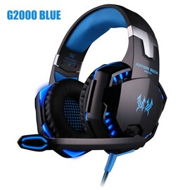 Headset over-ear Wired Game Earphones Blue
