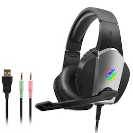 Headset Over-ear Wired Game Earphones Gaming Grey