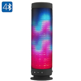HK Warehouse 10 Watt Portable Bluetooth 4.0 Speaker - 360 Degree Sound, 88 LEDs, 5 Lighting Functions
