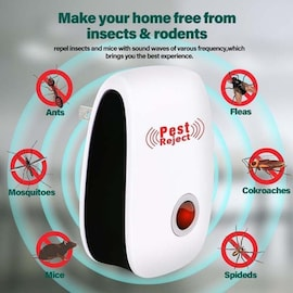 Home Electronic Ultrasonic Pest Repeller for Anti Rodent Insect Repellent Mouse Cockroach EU