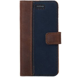 Honor 8- Surazo® Phone Case Genuine Leather- Nubuck Nut and Navy