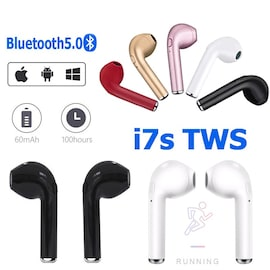 I7s TWS Bluetooth Earbuds Compatible With All Smartphones Black