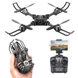 iDrone i5 Camera Drone - Altitude Hold, Hedless Mode, Waypoints Follow, FPV App, Camera, Foldable, 6 Axis Gyro