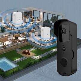IP54 Ringx Video Doorbell Waterproof Camera Visual Intercom Chime Night Vision IP WiFi Smart Door Bell Wireless Home Sec