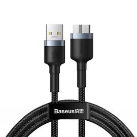 Kabel USB 3.0 do micro USB 3.0 Baseus Cafule, 2A, 1m (czarno-szary)