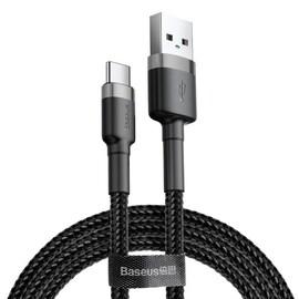 Kabel USB-C Baseus Cafule 3A 1m - czarny