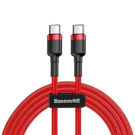 Kabel USB-C PD Baseus Cafule PD 2.0 QC 3.0 60W 2m (czerwony)