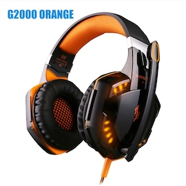 Kotion Each G2000 LED Headset with Microphone for PS4 Xbox Nintento Switch PC Laptop Orange
