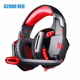 Kotion Each G2000 LED Headset with Microphone for PS4 Xbox Nintento Switch PC Laptop Red
