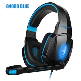 Kotion Each G4000 LED Headset with Microphone for PS4 Xbox Nintento Switch PC Laptop Blue