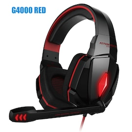 Kotion Each G4000 LED Headset with Microphone for PS4 Xbox Nintento Switch PC Laptop Red