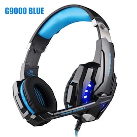 Kotion Each G9000 LED Headset with Microphone for PS4 Xbox Nintento Switch PC Laptop Blue