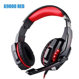 Kotion Each G9000 LED Headset with Microphone for PS4 Xbox Nintento Switch PC Laptop Red