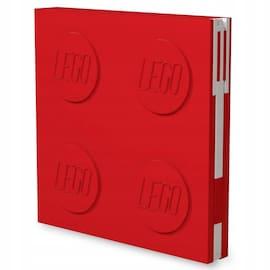 Kwadratowy notatnik LEGO z długopisem Czerwony