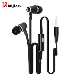 Langsdom Bass Stereo Earphones With Microphone - Black
