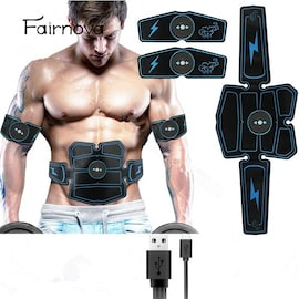 LCD Exercise Electro stimulation Hip Trainer Home Gym Fitness Muscle Abdomen Fitness Equipment Vibration Pulse Massager Black
