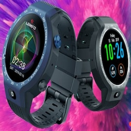 Lemfo LEM9 Smart Watch - Android 7.1 1.39 inch Screen 600Mah Battery with 8MP Camera Sport Business Strap Blue CHINA