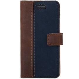 Lenovo / Motorola Moto G6- Surazo® Phone Case Genuine Leather- Nubuck Nut and Navy