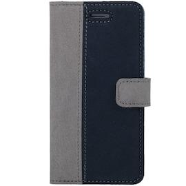 LG Velvet- Surazo® Phone Case Genuine Leather- Nubuck Gray and Navy Blue