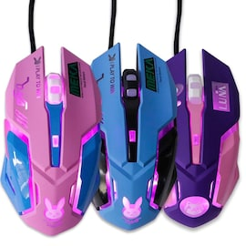 LUNA Wired Gaming Mouse Computer Professional E-sports Mouse 2400 DPI  Purple