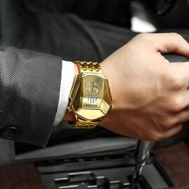 Luxury Fashionx Trend Sports Men's Watch Casual Steel Bandx Black Technology Watch Milano Waterproof Quartz Watches Gold/Silver