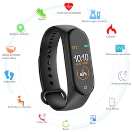 M4 Smart Band Fitness Tracker Watch Sport Bracelet Heart Rate Blood Pressure Smartband Monitor Health  Blue