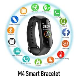 M4 Sport Smart Watch Band Fitness Tracker Heart Rate Blood Pressure Black
