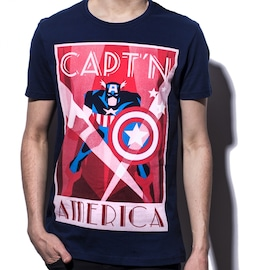 Marvel - Captain America men's T-shirt XXL Multi-colour