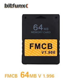 McBoot v1.966 64MB Memory Card for PS2 FMCB version 1.966 For Sony PS2 Playstation2 Gaming