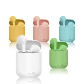 Mini-2 TWS Wireless Earphones Bluetooth 5.0 Headphones with Mic and Charging Box For All Smartphones Yellow