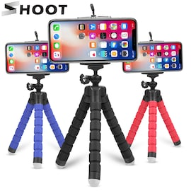 Mini Flexible Octopus Tripod for Smartphones Android and IOS Black