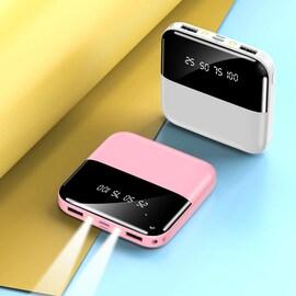 Mini Powerbank 30000mAh Fast Charger for all Smartphones Pink 3000-4999 mAh