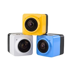 Mini WiFi 360 Degree Panoramic Wide Angle Action Camera Sports Cam Recorder with Standard 1/4 Screw Interface White