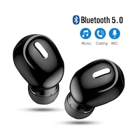 Mini Wireless Earbuds Handsfree with Mic Stereo Sound 5.0 Bluetooth For All Smartphones White