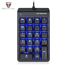 MOTOSPEED K22 Mechanical Numeric Keypad Wired Backlight Keyboard 22 Keys Mini Numpad Extended Layout