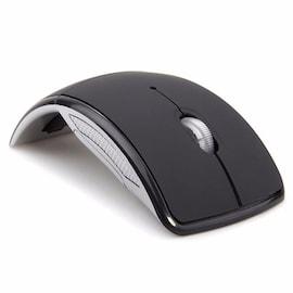NEW 2.4G Wireless Mouse Foldable USB Black