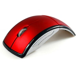 NEW 2.4G Wireless Mouse Foldable USB Red