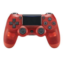 Newest PS4 Controller Dual Shock 4th Bluetooth Wireless Gamepad Joystick Remote Transparent Red
