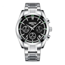 NIBOSI 2310 Multi-function Scratch Design Waterproof Business Quartz Watch