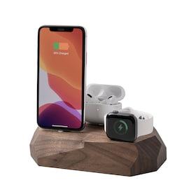 Oakywood - Triple Dock - iPhone, Apple Watch & AirPods - Walnut