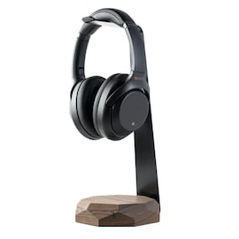 Oakywood - Wooden stand for Headphones with QI Wireless charger - Walnut
