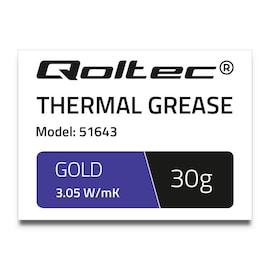 Pasta Termoprzewodząca Qoltec 3.05 W/M-K | 30G | Złota