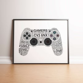 Personalised Playstation 4 Controller Print A4 (21mm x 297mm)