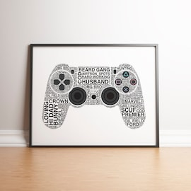 Personalised Playstation 4 Controller Print