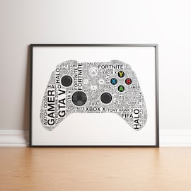 Personalised Xbox X Controller Print